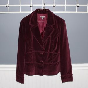Maroon Velvet Jacket/Blazer